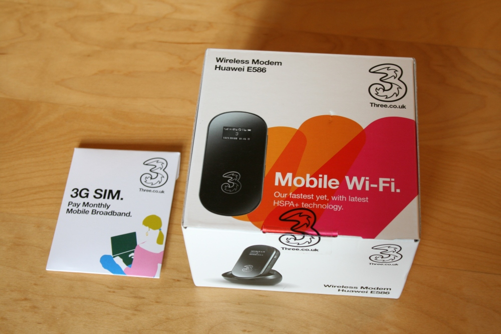 Three's Huawei E586 mifi: answer to my Vodafone woes (1/2)