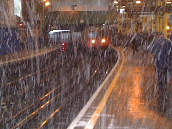 Blizzard at Farringdon Underground