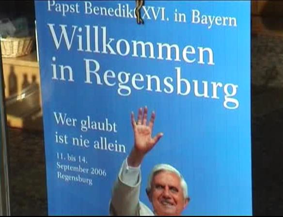 Pope Benedict at Regensburg