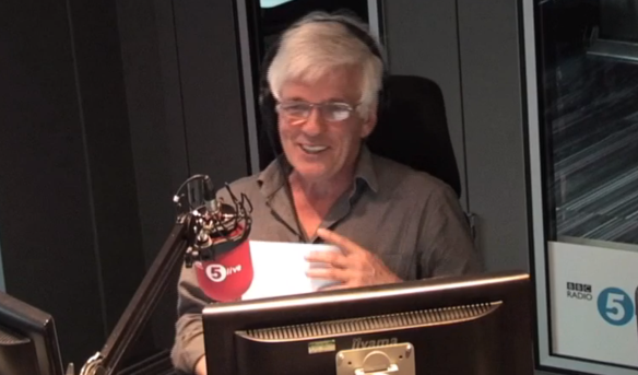 BBC Radio 5 Live's Peter Allen teases Jane Garvey on Drive