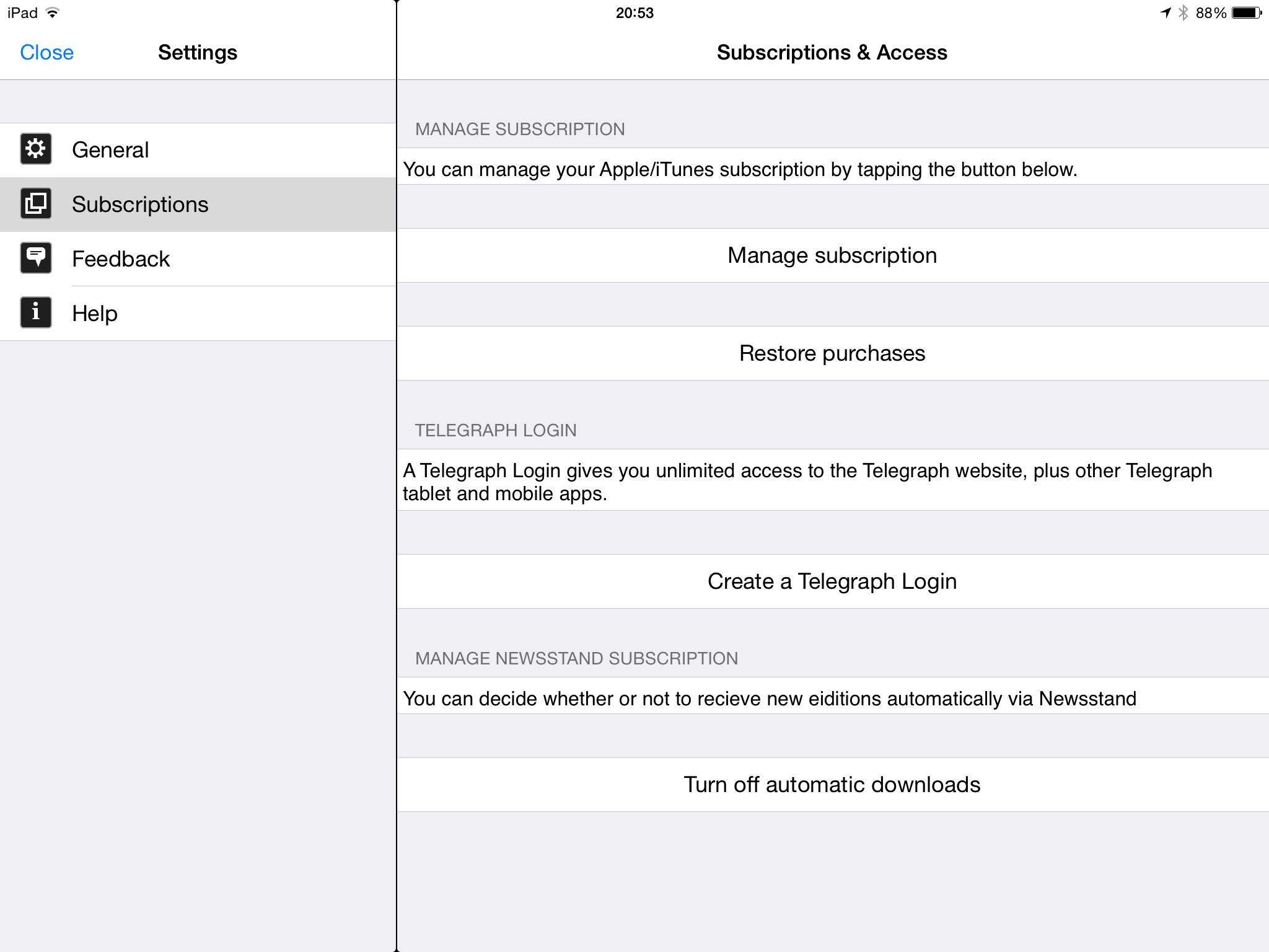 Solving Daily Telegraph iPad app problems   Ertblog