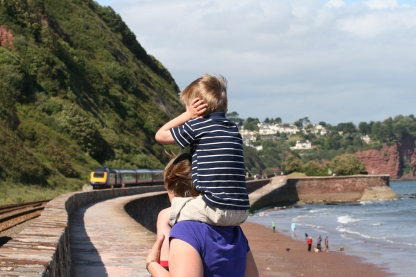 On the sea wall, Teignmouth