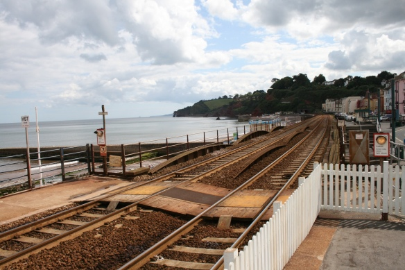 Before the storm: Dawlish station, June 2011