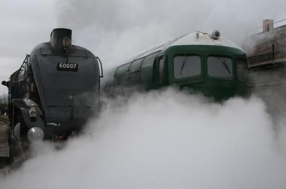 Sir Nigel Gresley and GWR gas turbine 18000