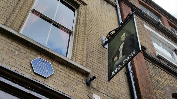 John Snow pub, Broadwick Street, Soho