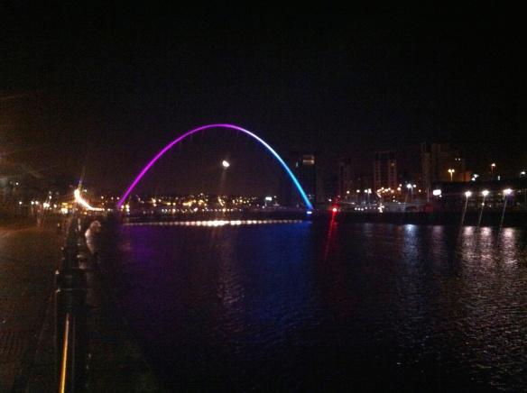 Newcastle Gateshead by night