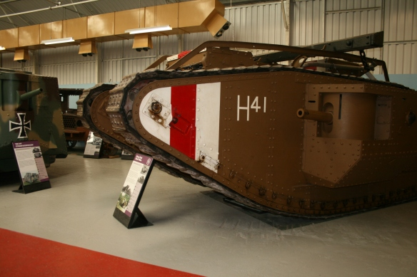 Great war tanks at the Tank Museum, Bovington