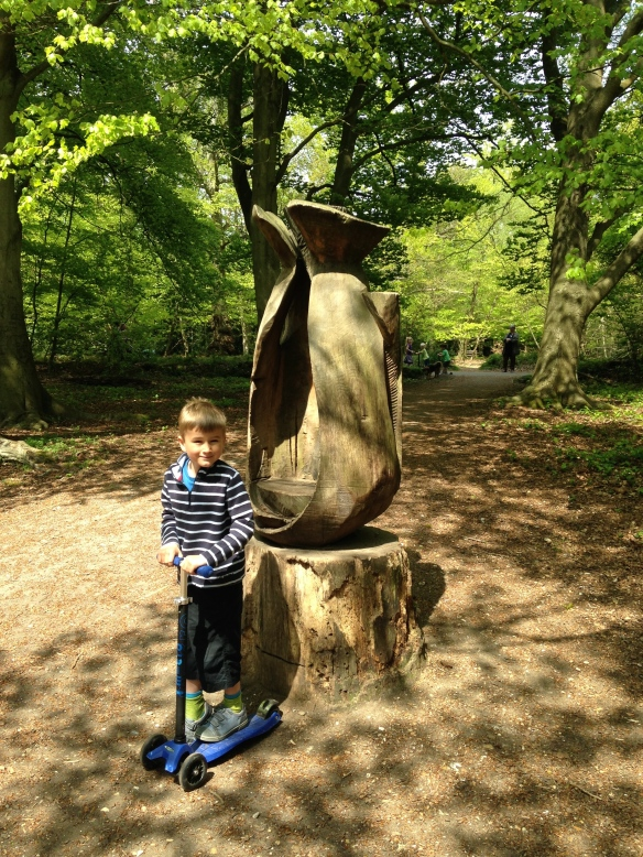 Burnham Beeches trail sculpture