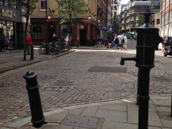 The replica of the Broad Street, Soho cholera pump