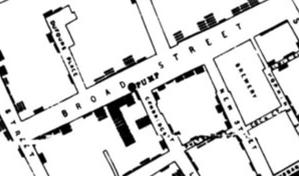 Map of 1854 cholera outbreak Soho