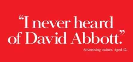 The Economist ad reworked as tribute to David Abbott