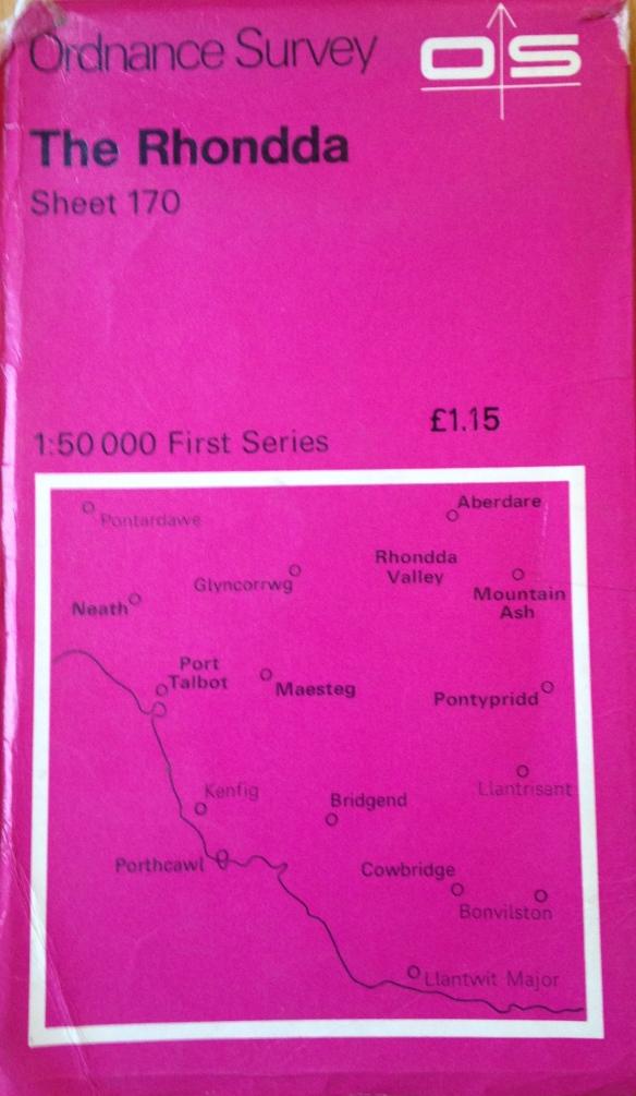 OS metric 50:000 map Rhondda