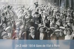 To war, Gare de l'Est, Paris