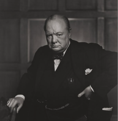 Serious Churchill, by Karsh of Ottawa