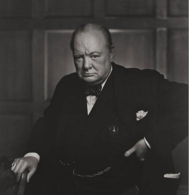 Serious Churchill, by Karsh of Ottawa