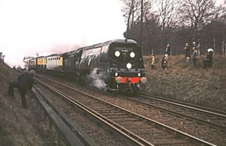 Churchill's funeral train. Photo: Mike Morant