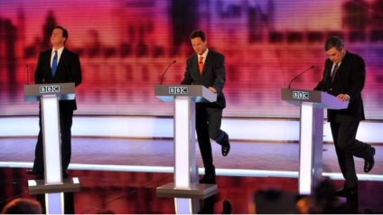 2010 leaders debate: Cameron cannot veto the people's right to 2015 rerun. Photo: BBC website