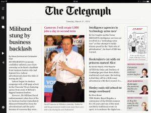 Telegraph: sting