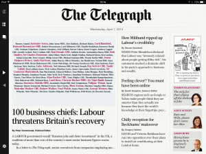Hold the front page: business leaders support the Tories. In other news, the Pope's a catholic
