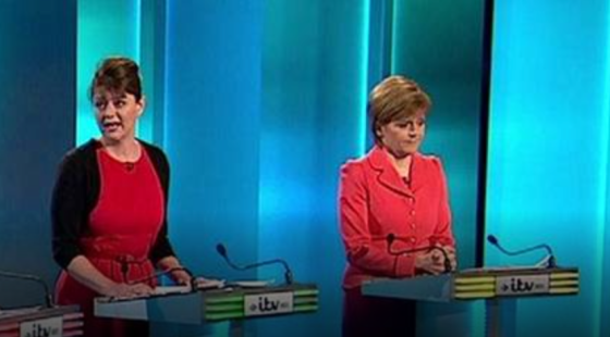 Women on top: Leanne Wood and Nicola Sturgeon at #leadersdebate
