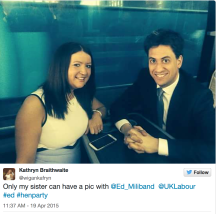 Ed Miliband and the hen party
