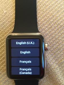 Apple Watch: choose your language