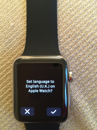 Apple Watch: confirm language