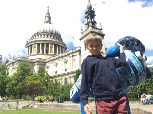 A Capital View: Shaun the Sheep by St Paul's