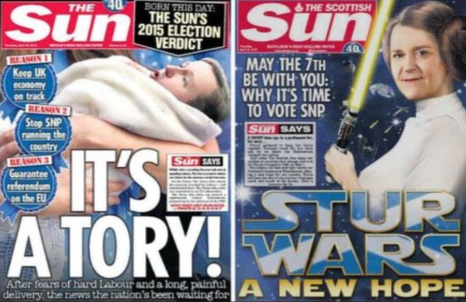 The Sun endorses Tories and SNP