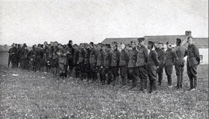 Roll call of the 64 unharmed Royal Scots Quintinshill survivors