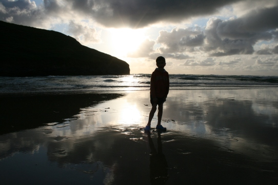 Beach boy, Mawgan Porth, July 2015