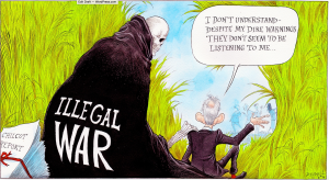 Why no-one is listening to Blair: Chris Riddell in The Observer