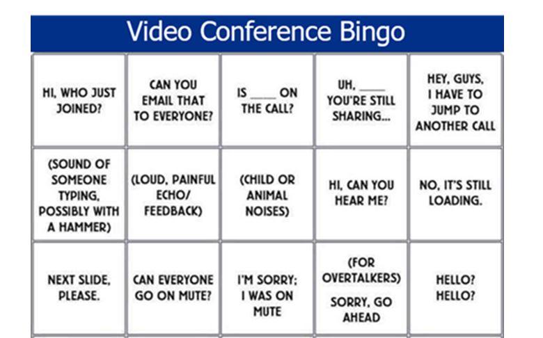 video conference bingo